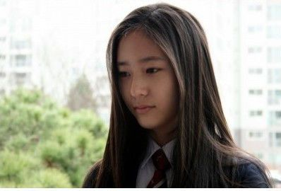 PICS] Krystal in school uniform
